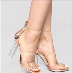 Fashion Nova Rosy Clear Heel